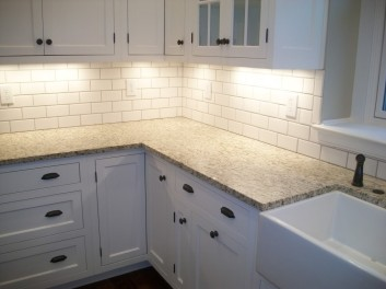 subway gray grout busy granite